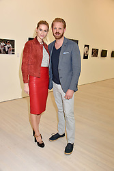 Alistair Guy and Barbora Bediova at a preview of the 'From Selfie To Self-Expression' exhibition at The Saatchi Gallery, Duke Of York's HQ, King's Road, London, England. 30 March 2017.