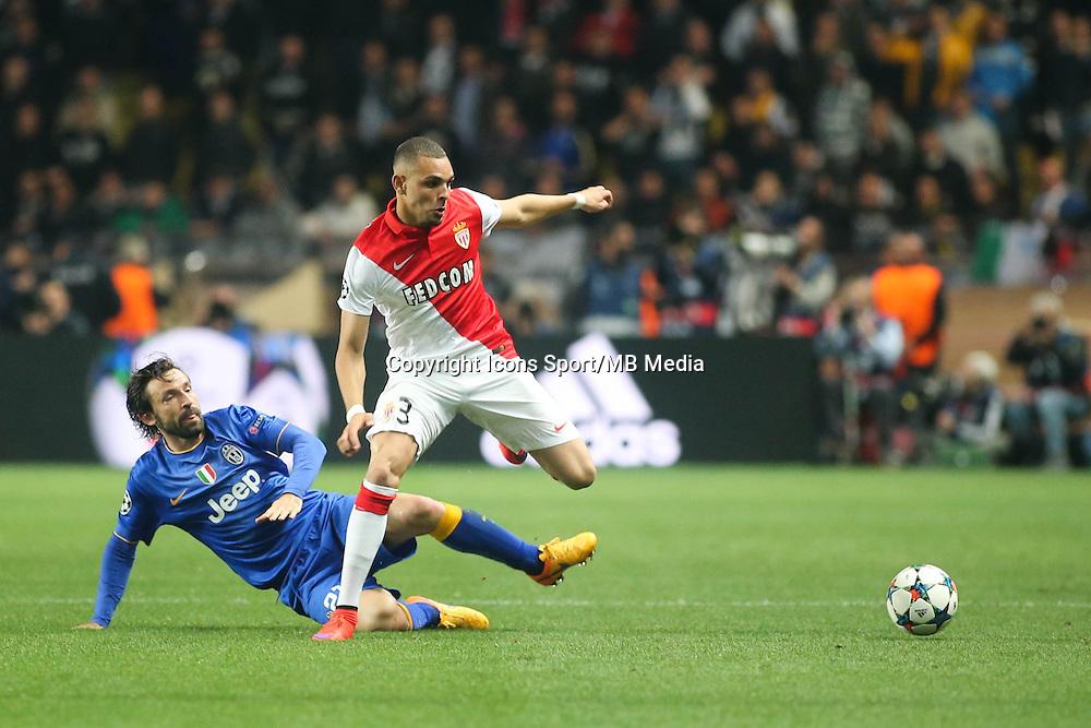 Layvin KURZAWA / Andrea PIRLO  - 22.04.2015 - Monaco / Juventus Turin - 1/4Finale retour Champions League<br />Photo : Serge Haouzi / Icon Sport