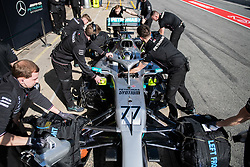 February 18, 2019 - Montmelo, BARCELONA, Spain - Circuit de Barcelona Catalunya, BARCELONA, 18 of february 2019. Valteri Bottas driver of Mercedes AMG during the first day of Test at Circuit de Barcelona Catalunya (Credit Image: © AFP7 via ZUMA Wire)