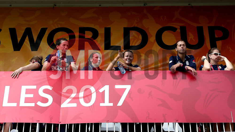 England Women players stand on the balcony ahead of their World Cup Group Match with Australia Women - Mandatory by-line: Robbie Stephenson/JMP - 09/07/2017 - CRICKET - Bristol County Ground - Bristol, United Kingdom - England v Australia - ICC Women's World Cup match 19