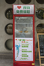 Shanghai: Charity Refrigerator Provides Free Food for Needy People in Shanghai, 6 Oct. 2016