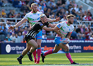 Danny Walker  of Widnes Vikings tackles Danny Richardson of St Helens during the Betfred Super League match at the Dacia Magic Weekend, St. James's Park, Newcastle<br /> Picture by Stephen Gaunt/Focus Images Ltd +447904 833202<br /> 19/05/2018