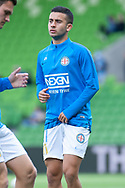 Melbourne City midfielder Ramy Najjarine (21) warms up at the Hyundai A-League Round 6 soccer match between Melbourne City FC and Newcastle Jets at AAMI Park in Melbourne.