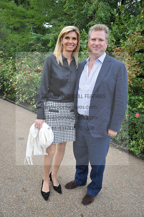 WILLIAM & LUCY ASPREY at the unveiling of 'Isis' a sculpture by Simon Gudgeon hosted by the Royal Parks Foundation and the Halcyon Gallery by the banks of The Serpentine, Hyde Park, London on 7th September 2009.
