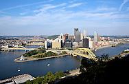 UNITED STATES-PITTSBURGH-View over downtown Pittsburgh. PHOTO: GERRIT DE HEUS.VERENIGDE STATEN-PITTSBURGH-uitzicht op het centrum van de stad. COPYRIGHT GERRIT DE HEUS