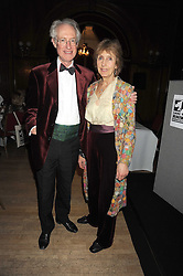 BAMBER & CHRISTINE GASCOIGNE at a dinner in aid of the charity 'Save The Rhino' at The Porchester Hall, Porchester Road, London W2 on 13th November 2008.