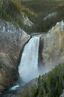 Lower Falls of the Yellowstone River seen from Lookout Point, Yellowstone National Park