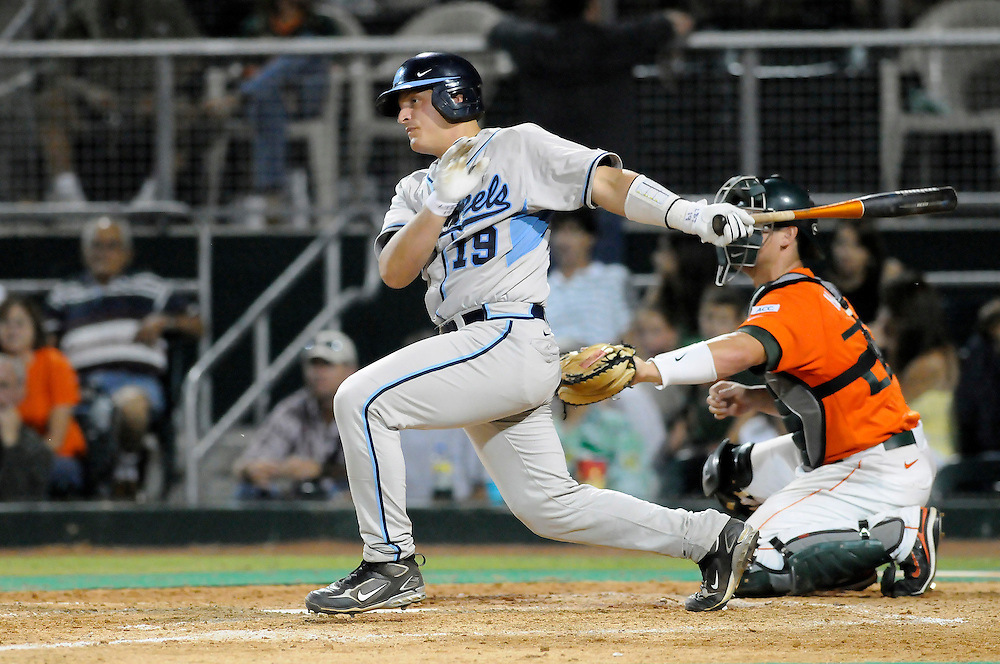 May 16, 2008 - Coral Gables, FL<br /> <br /> Tim Federowicz #19 of the University of North Carolina in action during the Tar Heels 10-6 victory over the Miami Hurricanes at Mark Light Field at Alex Rodriguez Park in Coral Gables, Florida.<br /> <br /> JC Ridley/CSM