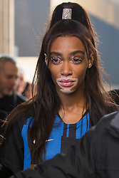 Celebrities arrival at the Byblos Fashion Show during the Milan Fashion Week 2019 on February 20, 2019. 20 Feb 2019 Pictured: Winnie Harlow arrives at the Byblos Fashion Show during the Milan Fashion Week 2019 on February 20, 2019. Photo credit: Stefano Costantino / MEGA TheMegaAgency.com +1 888 505 6342