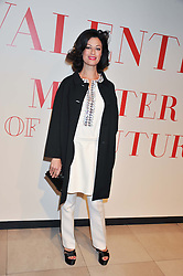 DOROTEA MERCURI at a private view of 'Valentino: Master Of Couture' at Somerset House, London on 28th November 2012.