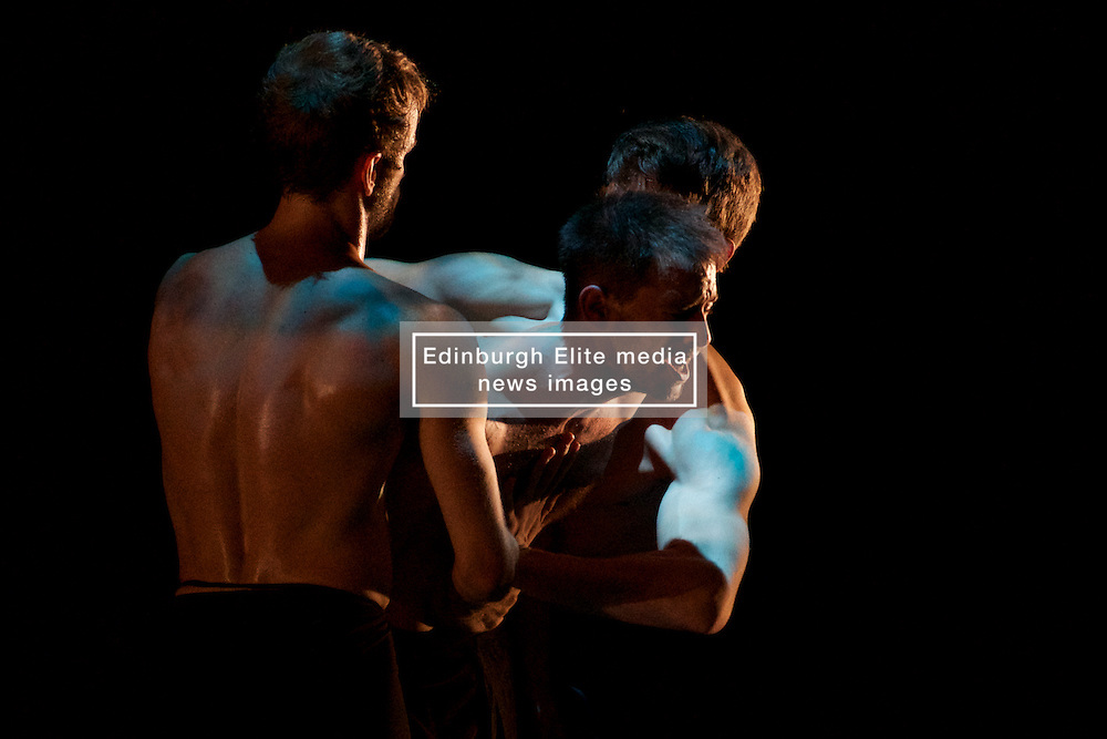 Angelin Preljocaj's MC 14/22 (Ceci est mon corps) is a hymn to the male body, a meeting of the spiritual and the carnal, a glorification of masculinity and a condemnation of force. Festival Theatre 18th August, 2016, (c) Brian Anderson | Edinburgh Elite media