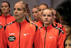 27-09-2017 NED: EK kwalificatie Nederland - Wit Rusland, Eindhoven<br /> De Nederlandse handbalsters hebben de eerste kwalificatiewedstrijd voor het EK 2018 gewonnen. Wit-Rusland werd in Eindhoven met 33-21 aan de kant gezet. <br /> Angela Steenbakkers #4