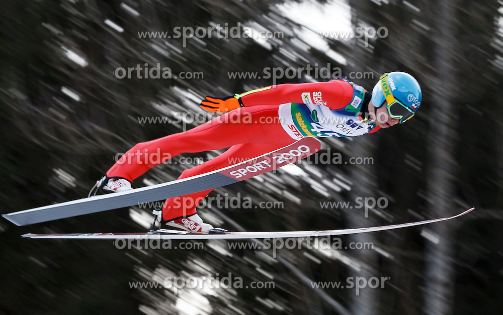 12.01.2014, Kulm, Bad Mitterndorf, AUT, FIS Ski Flug Weltcup, Erster Durchgang, im Bild Jan Ziobro (POL) // Jan Ziobro (POL) during the first round of FIS Ski Flying World Cup at the Kulm, Bad Mitterndorf, .Austria on 2014/01/12, EXPA Pictures © 2013, PhotoCredit: EXPA/ Erwin Scheriau