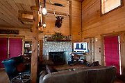 JUSTIN, TX - FEBRUARY 4, 2014: The living area of a home for sale at 1780 Strader Road for the What You Get column. (Cooper Neill / for The New York Times)