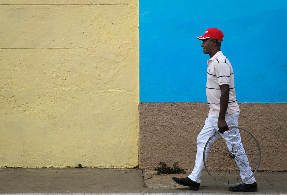 TRINIDAD, CUBA - CIRCA JANUARY 2020: Local on the streets of Trinidad