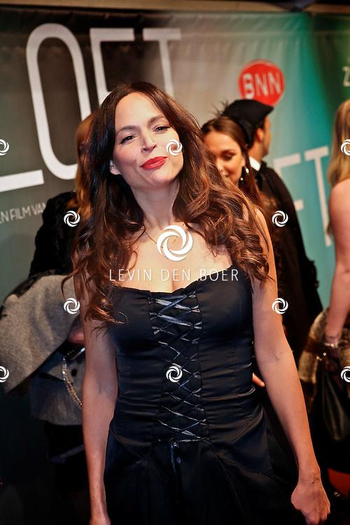 AMSTERDAM - Evelyn Struik op de premiere van de film Loft dinsdag in Amsterdam. De film is vanaf 16 december in de Nederlandse bioscopen te zien. FOTO LEVIN DEN BOER - PERSFOTO.NU