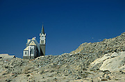 Namibia. Luderitz.  Lutherian church on the top of the hill..©Zute Lightfoot.DVD0019