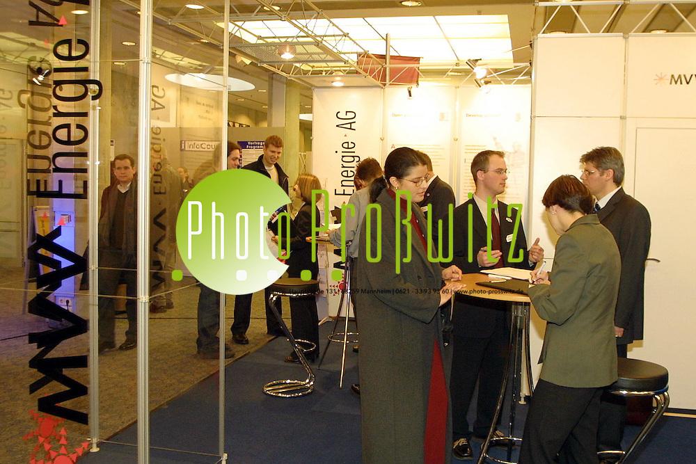 Mannheim. Rosengarten. UNI Ausbildungsjobmesse<br /> <br /> Bild: Pro&szlig;witz