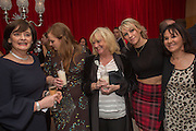 CHERIE BLAIR; KATHRYN BLAIR; JUDY FINNIGAN; ARLENE PHILLIPS, Pre -drinks at the St. Martin's Lane Hotel before a performance of the English National Ballet's Nutcracker: London Coliseum.12 December 2013