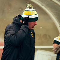 Women's Soccer Assistant Coach, Rob McCaffrey of the Regina Cougars during the Women's Soccer home game on Sat Oct 13 at U of R Field. Credit: Arthur Ward/Arthur Images