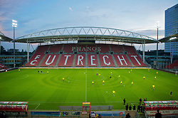 UTRECHT, THE NETHERLANDS - Wednesday, September 29, 2010: Liverpool's players during a training session at the Stadion Galgenwaard ahead of the UEFA Europa League Group K match against FC Utrecht. (Photo by David Rawcliffe/Propaganda)