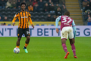 Kevin Stewart of Hull City during the EFL Sky Bet Championship match between Hull City and Aston Villa at the KCOM Stadium, Kingston upon Hull, England on 31 March 2018. Picture by Craig Zadoroznyj.