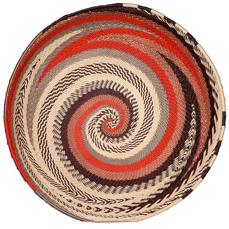 Bowl; XLarge; Earth; Burnt Orange; Cream; Brown