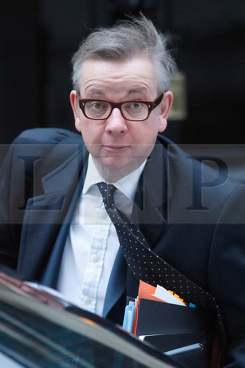 © licensed to London News Pictures. London, UK 07/01/2014. Education Secretary, Michael Gove attending to a cabinet meeting in Downing Street on Tuesday, 7 January 2014. Photo credit: Tolga Akmen/LNP