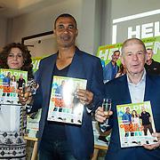 NLD/Amsterdam/20140507 - Presentatie Helden Magazine nr. 22, Barbara Barend, Ruud Gullit en Frits Barend