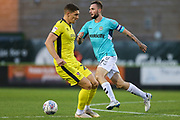 Forest Green Rovers Carl Winchester(7) on the ball during the EFL Trophy match between Forest Green Rovers and Cheltenham Town at the New Lawn, Forest Green, United Kingdom on 4 September 2018.