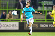 Forest Green Rovers George Williams(11) on the ball during the EFL Trophy match between Forest Green Rovers and Cheltenham Town at the New Lawn, Forest Green, United Kingdom on 4 September 2018.