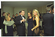 PRINCE ANDREW, TARA PALMER-TOMPKINSON, CORINA LARSEN, Mala Lindsay dinner party, Chelsea, London. September 1999
