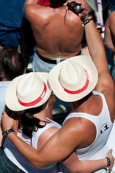 Fans taking picture of themselves at A1 Beach Volleyball Grand Slam tournament of Swatch FIVB World Tour 2010, final, on July 31, 2010 in Klagenfurt, Austria. (Photo by Matic Klansek Velej / Sportida)