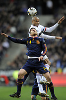 FOOTBALL - FRIENDLY GAME - FRANCE v SPAIN - 03/03/2010  - PHOTO JEAN MARIE HERVIO / DPPI - THIERRY HENRY (FRA) / XABIER ALONSO (SPA)