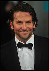 Bradley Cooper nominated for Best supporting actor for the Oscars 2014.<br /> Bradley Cooper (R) arrives at the British Academy Film Awards, The Royal Opera House, Bow Street, London, UK, Sunday February 10, 2013. Photo by Andrew Parsons / i-Images