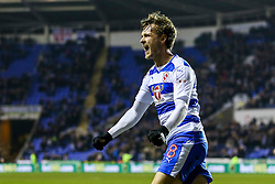 Goal, John Swift of Reading scores, Reading 1-0 Brentford - Mandatory by-line: Jason Brown/JMP - 14/02/2017 - FOOTBALL - Madejski Stadium - Reading, England - Reading v Brentford - Sky Bet Championship
