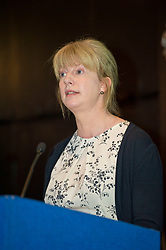 Pictured: <br /> <br /> Health Secretary Shona Robison announced additional £9.5m funding for health boards to help reduce A&E waiting times during a visit to the Edinburgh Corn Exchange<br /> Ger Harley | EEm 18 May 2017