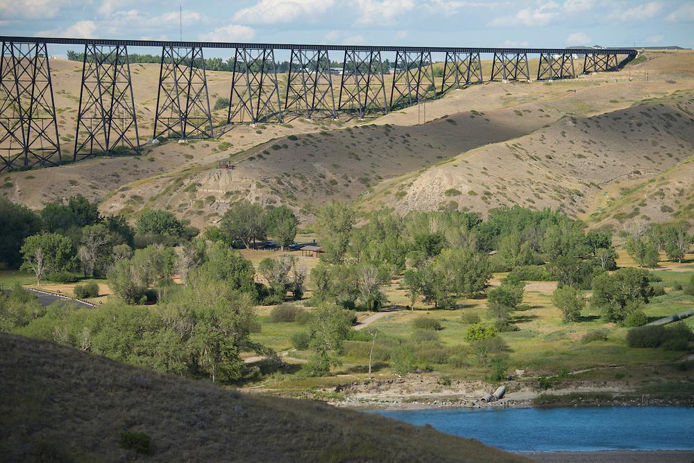 Canada, Alberta,Lethbridge, High level bridge,