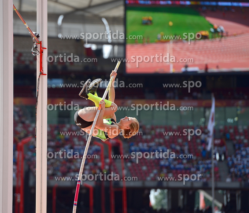 24-08-2015 CHN: IAAF World Championships Athletics day 3, Beijing<br /> Pole vault with Tina Sutej SLO<br /> Photo by Ronald Hoogendoorn / Sportida