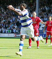 QPR FC vs Barnsley FC Championship 26/09/09<br /> Photo Nicky Hayes Fotosports International<br /> Mikele Leigertwood celebrates scoring QPR's 1st goal.