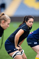 Helena Bunce of Worcester Valkyries during the pre match warm up - Mandatory by-line: Craig Thomas/JMP - 30/09/2017 - RUGBY - Sixways Stadium - Worcester, England - Worcester Valkyries v Saracens Women - Tyrrells Premier 15s