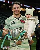 Rugby Union - 2019 (138th Men's) Varsity Match - Oxford University vs. Cambridge University<br /> <br /> James Horwill of Cambridge, with his daughter and the trophy at Twickenham.<br /> <br /> COLORSPORT/ANDREW COWIE