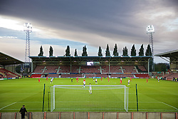 WREXHAM, WALES - Tuesday, September 10, 2019: A general view during the UEFA Under-21 Championship Italy 2019 Qualifying Group 9 match between Wales and Germany at the Racecourse Ground. (Pic by David Rawcliffe/Propaganda)