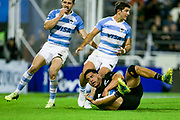 Buenos Aires (Bs. As. Province, ARGENTINA), September 29, 2018: Anton Lienert-Brown from All Blacks scores a try during the International rugby match during the Rugby Championship between Argentina v New Zealand at José Amalfitani Stadium, on Saturday, September 29, 2018 in Buenos Aires, Argentina.<br /> Copyright photo: Pablo A. Gasparini / www.photosport.nz