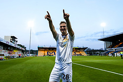 Mickey Demetriou of Newport County celebrates after winning through to the Sky Bet League Two Playoff Final - Mandatory by-line: Robbie Stephenson/JMP - 12/05/2019 - FOOTBALL - One Call Stadium - Mansfield, England - Mansfield Town v Newport County - Sky Bet League Two Play-Off Semi-Final 2nd Leg