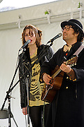 Sean Lennon and Charlotte Kemp Muhl - Ghost of a Saber Tooth Tiger - performing at the Press Here Garden Party at the French Legation, South by Southwest Music Conference, Austin Texas, March 20, 2010.