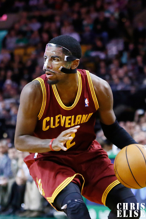 19 December 2012: Cleveland Cavaliers point guard Kyrie Irving (2) looks to pass the ball during the Boston Celtics 103-91 victory over the Cleveland Cavaliers at the TD Garden, Boston, Massachusetts, USA.