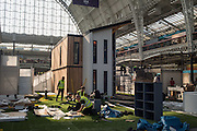 Day before the opening of the 2016 Ideal Home Exhibition. Kensington Olympia, 17 March 2016