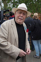 © Licensed to London News Pictures. 21/05/2012. London, England. Actor Clive Swift. RHS Celsea Flower Show 2012 - Press Day. Photo credit: Bettina Strenske/LNP