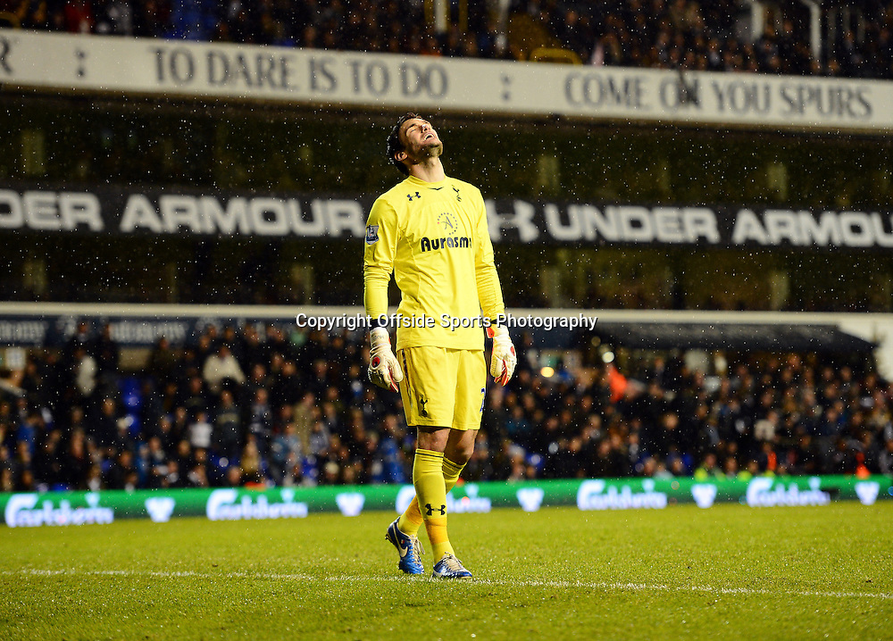 22nd December 2012 - Barclays Premier League - Tottenham Hotspur v Stoke City - Hugo Lloris of Tottenham Hotspur reacts as the final whistle blows - Photo: Marc Atkins / Offside.